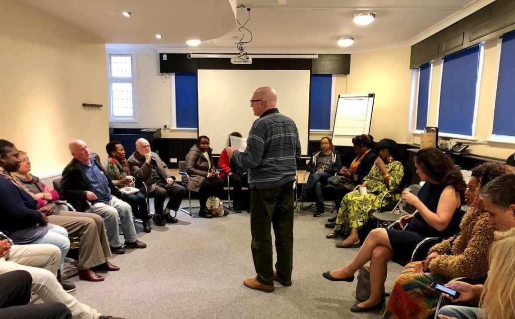 Alun Severn presenting