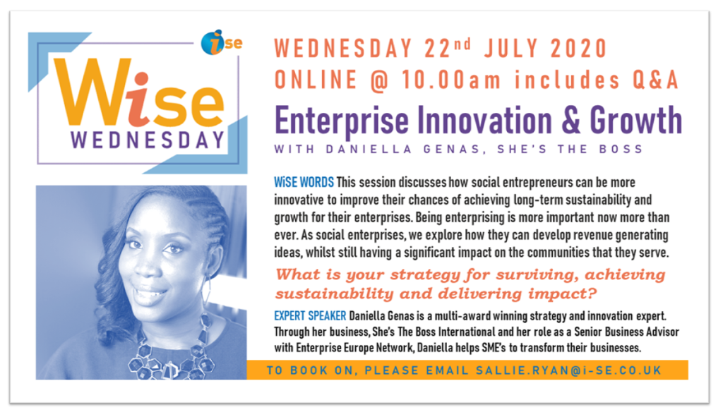 iSE WiSE Wednesday ENT INNOVATION GROWTH 220720 border